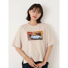 グラフィックフォトTシャツ (Light Beige)