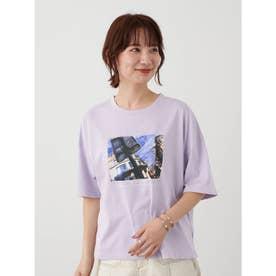 グラフィックフォトTシャツ (Purple)