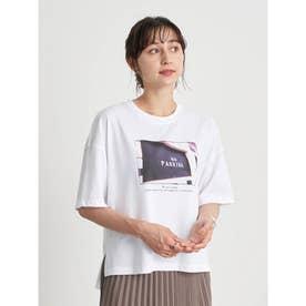 グラフィックフォトTシャツ (White×Black)