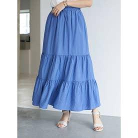 ティアードスカート (Blue)