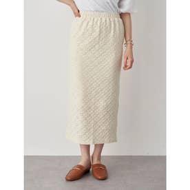 カットレースタイトスカート (Ivory)