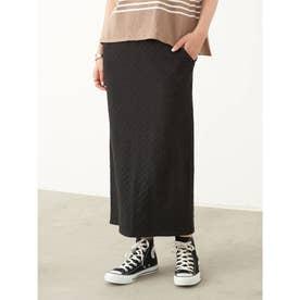 カットレースタイトスカート (Black)