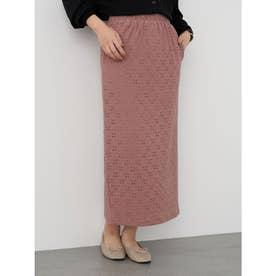 カットレースタイトスカート (Pink)