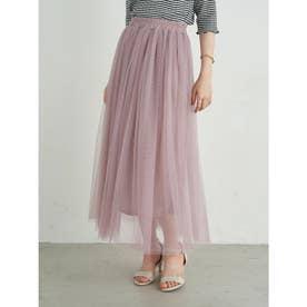 ふんわりチュールスカート (Pink Beige)