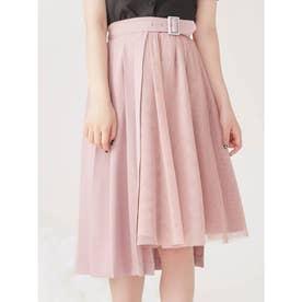 2WAYプリーツチュールスカート(ピンク)