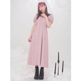 ヘチマカラーマキシワンピース(ピンク)