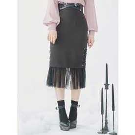 ヘムチュールマーメイドスカート(ブラック)
