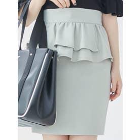 アシンメトリーペプラムスカート(グリーン)