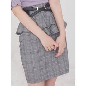 アシンメトリーペプラムスカート(ミックス)