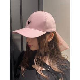チュールリボンキャップ(ピンク)