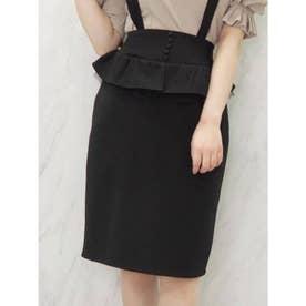 ペプラムスカート(ブラック)