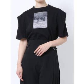 グラフィックプリントTシャツ(ブラック)