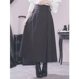 プリーツベルテッドスカート(ブラック)
