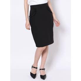 フリルポケットタイトスカート(ブラック)