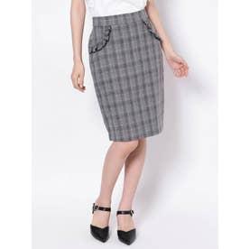 フリルポケットタイトスカート(ミックス)