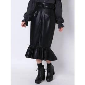 ウエストマークマーメイドスカート(ブラック)