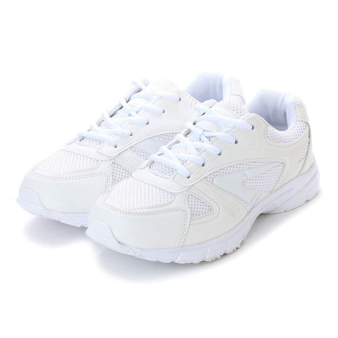 アースマーチ EARTH MARCH シンプルスニーカー 白い運動靴 メッシュ ...