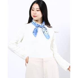 micco バンダナフラワー柄スカーフ (Blue)