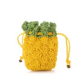 COOCO ペーパーフルーツポーチ (Yellow)