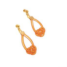 水引シズクイヤリング (Orange)
