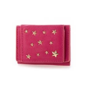 Legato Largo星形スタッズ 三つ折りミニ財布 (Rose)
