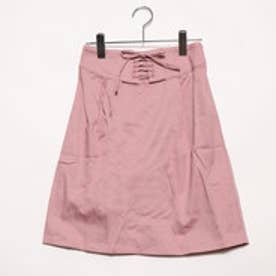 アースミュージックアンドエコロジー フロント編み上げスカート (ライトピンク)