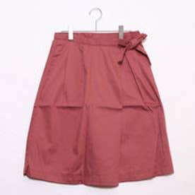 アースミュージックアンドエコロジー リボンラップスカート (ピンク)