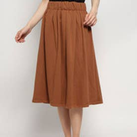 カットギャザースカート (キャメル)