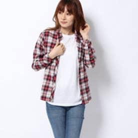 ネルチェックシャツ (レッド)