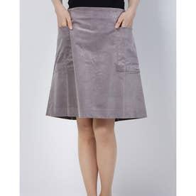 モールスキン台形スカート (グレー)
