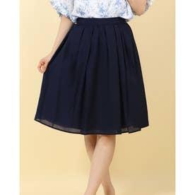 【Techichi】シャイニータックギャザースカート (ネイビー)