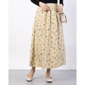 フラワーカラースカート (Beige)