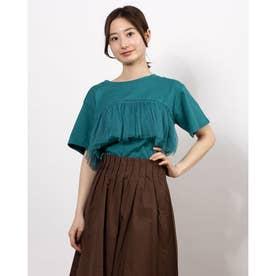 フロントチュールTシャツ (Blue Green)