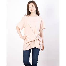 裾リボンカットチュニック (Light Pink)