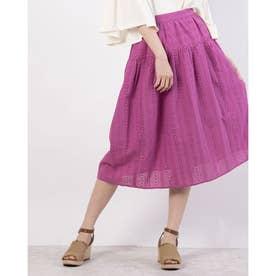ebc 綿レーススカート (Purple)
