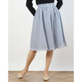 裾スカラップ刺繍ギャザースカート (STP)