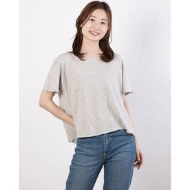 FURRYRATE かぎ針バック切替ニットTシャツ (Gray)