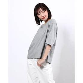 BIGシルエットクルーネックTシャツ (Gray Mixture)