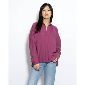ミントリネンブレンドシャツ (Purple)