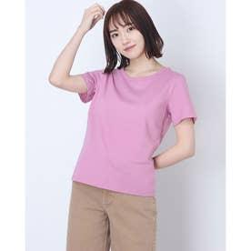 ベーシッククルーネックTシャツ (Pink)