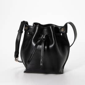Sculptured Sm. Bucket Bag (BLACK)