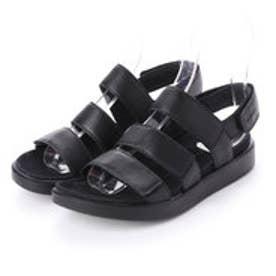 FLOWT W Flat Sandal (BLACK)