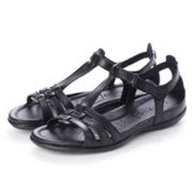 Flash T-Strap Sandal (BLACK/BLACK)
