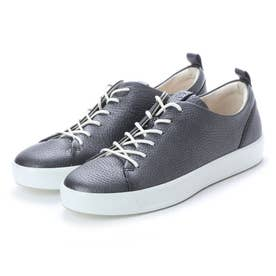 Womens Soft 8 Sneaker (BLACK/DARK SILVER)
