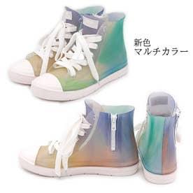 glitter ハイカット レインスニーカー (マルチ)