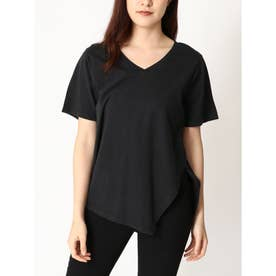 USコットンアシメTシャツ (BLACK)