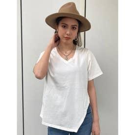 USコットンアシメTシャツ (WHITE)