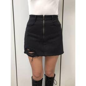 センターファスナーデザインスカート (D/BLACK)