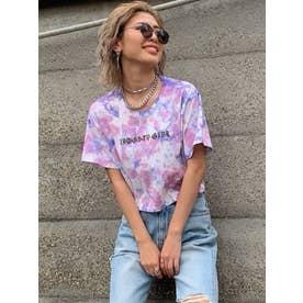 短丈タイダイTシャツ (PURPLE)