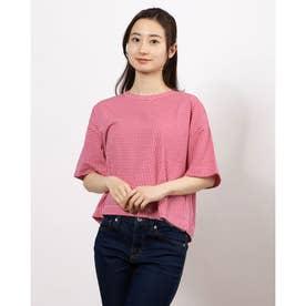 ギンガムゆるTシャツ (Red)